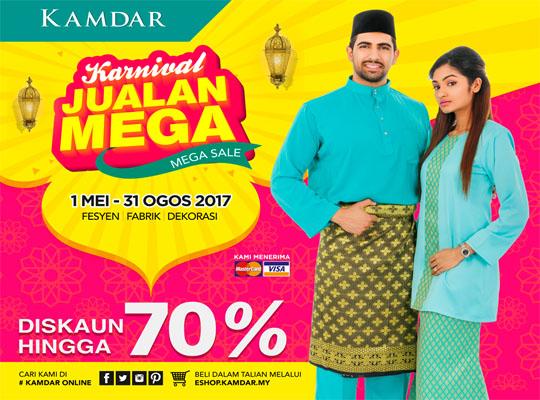 Kamdar Karnival Jualan Mega 1 May - 31 August 2017!