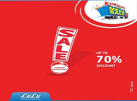 Lulu Mega Sale Up to 70% Discount!