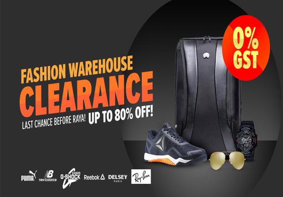 Lazada - Fashion Warehouse Clearance