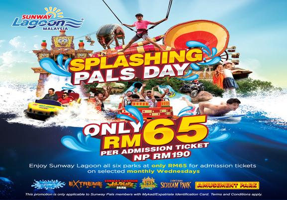 Sunway Lagoon: Splashing Pal Day!