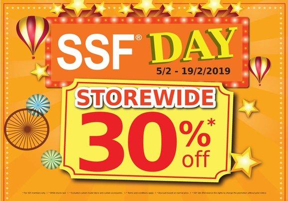 SSF Day! 30% Off Storewide