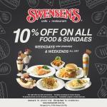 Swensens: 10% off on all food & sundaes!