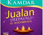 KAMDAR: Jualan Deepavali 2-30 October 2016