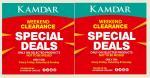 KAMDAR: Weekend Clearance. Special Deals.