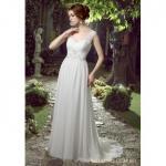 Informal Lace Chiffon Wedding Dress With Beading