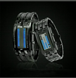 Hot Luxury Men's Stainless Steel Date Digital LED Bracelet Sport Watches