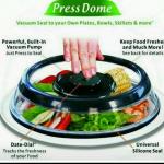 2-Piece Press Dome Instant Vacuum Food Sealer