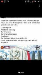 Utm degree for buyers