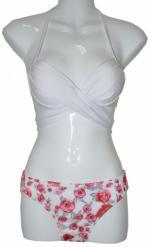 Bustier White Two Piece Bikini