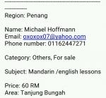 MANDARIN & ENGLISH LESSONS /TUITIONS