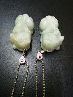 Jade pixiu Grade A with necklaces