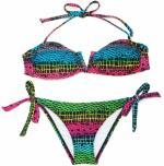 Red/Green Snake Skin Bandeau Bikini