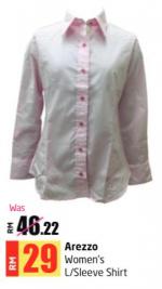 Lulu Hypermarket - Arezzo Women's L/Sleeve Shirt
