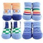 Motherhood.com.my: Gifts - Luvable Friends 4pk Novelty Socks Giftset Boy Blue