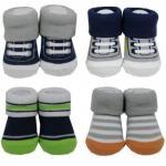 Motherhood.com.my: Gifts - Hudson Baby 4pk Novelty Socks Giftset Boy 58131 Blue