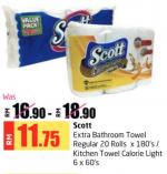 Lulu Hypermarket - Scott Extra Bathroom Towel Regular